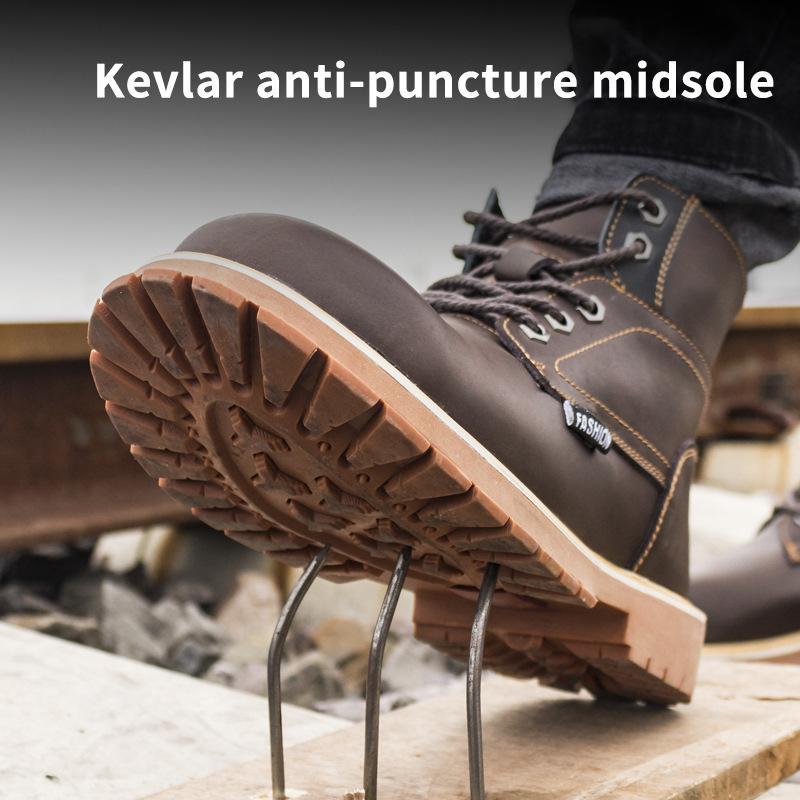 Работа сапоги для мужчин Anti-разбив стальной подносок спецобуви IndEstRucTIbLe Спецобувь наружные рабочие ботинки мужские ботинки 201019