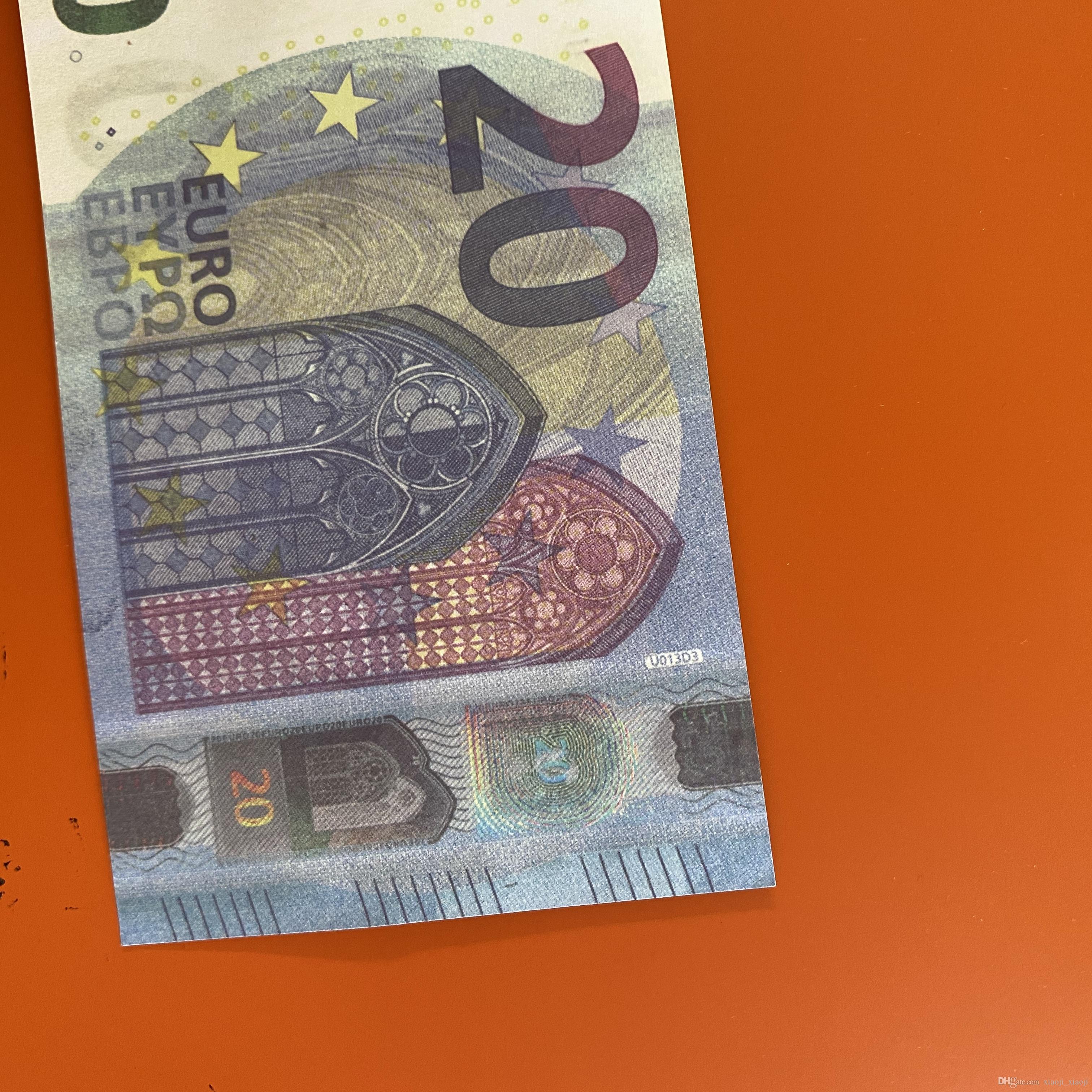 / euro / dollar papier jouet266 billet de banque jeu accessoire américain famille famille ou la plupart des copies réalistes 100pcs / pack asdQL
