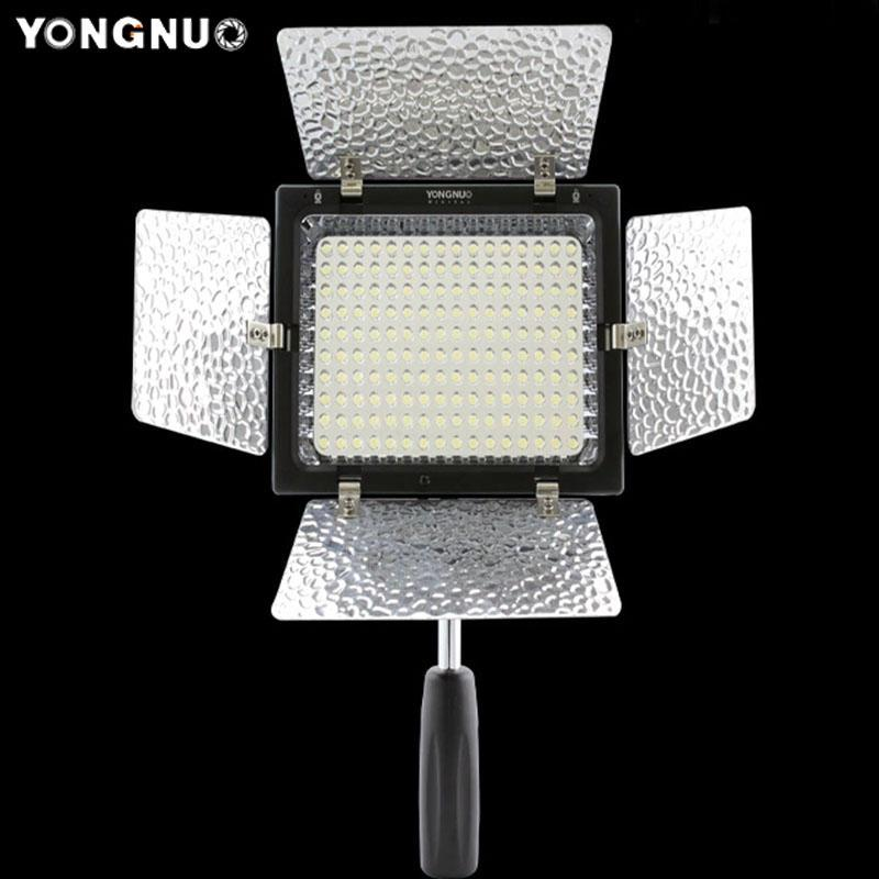 YONGNUO YN-160 II Flash LED For 650D 5D Mark II 6D 7D 60D 600D Light Cameras Camcorders Video Light Lamp Remote Control