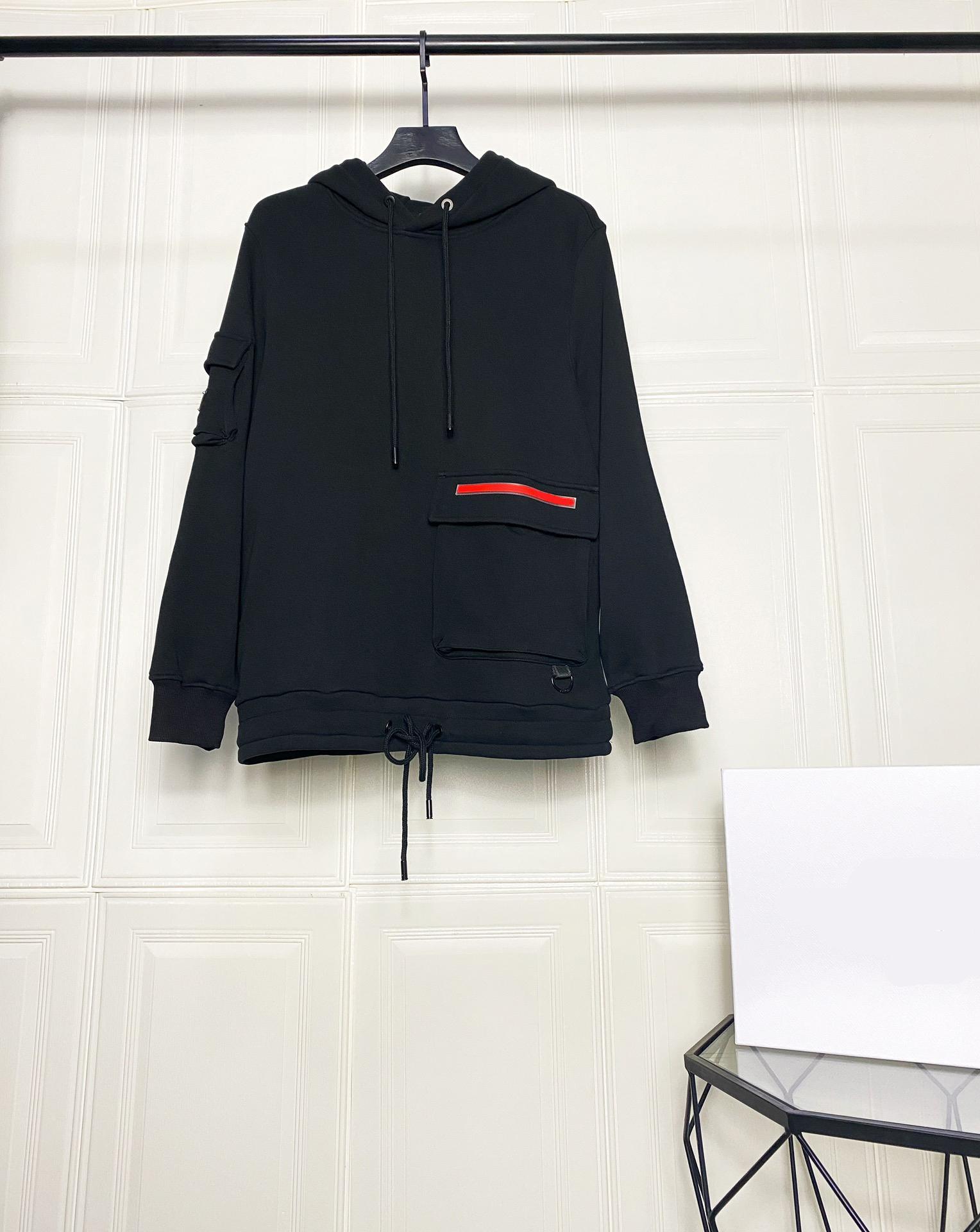 20ss hiver Nouvelle mode Sweat-shirt de luxe pour hommes Sweat à sweat à capuche classique coutures de poche rouge en caoutchouc rouge broderie space coton tissu capuche