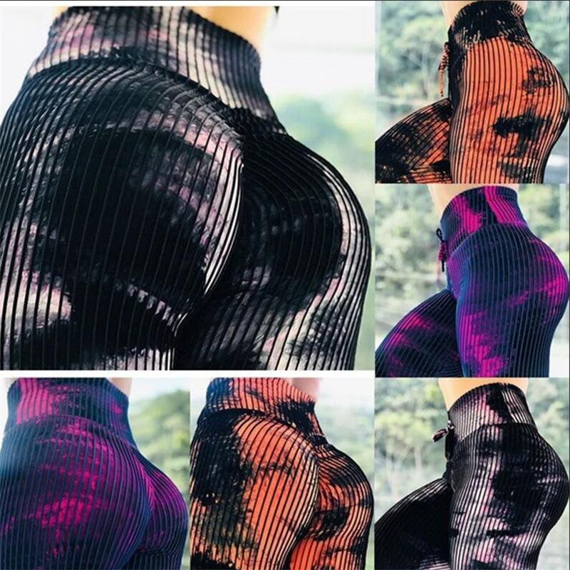 Nefes Tozluklar baskı spor renk ızgara prints2020 Sıcak patlamalar moda Spor pantolon ile ince pantolon kadın kalçalar