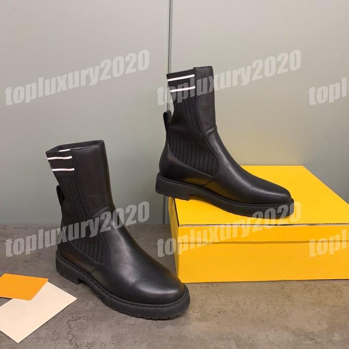 Moda Bayan Örgü Deri Yarım Martin Çizmeler En Kaliteli Bayanlar Platform Çizmeler Rahat Dantel-Up Elbise Patchwork Ayakkabı Boot 35-41