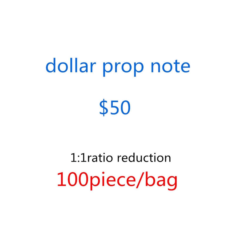 Realista Free Prop Movie Money Dollar Best Banknote Dollar Shipping Bar Play Money 1 Money NightClub 100pcs / Pack QRSOG