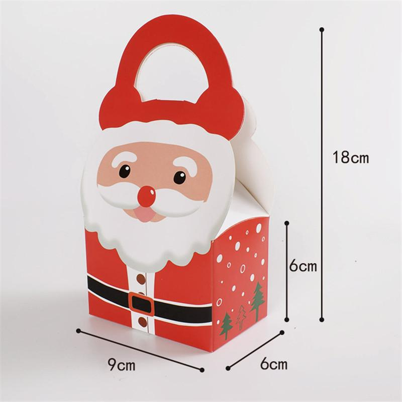 1Christmas Eve Wrapping Gift Color Color Spot Gift Wrapping Santa Claus Papel Papel Bag Bolsa de caramelo para niños puede ser personalizada1