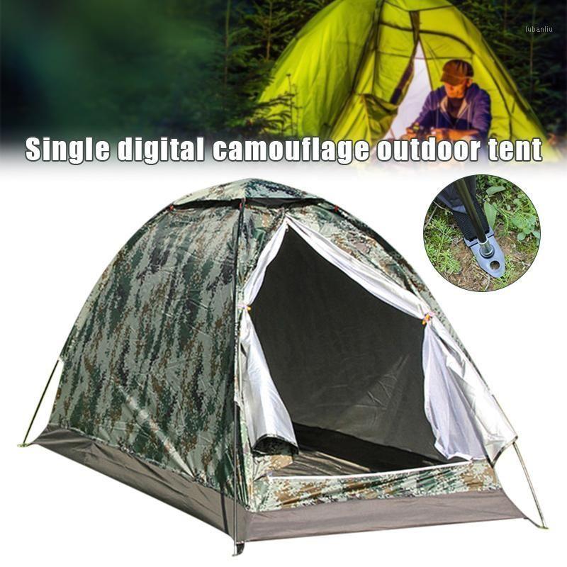 Tragbare Single Tarn Camping Zelt Outdoor Travel Angeln Wandern H7JP1