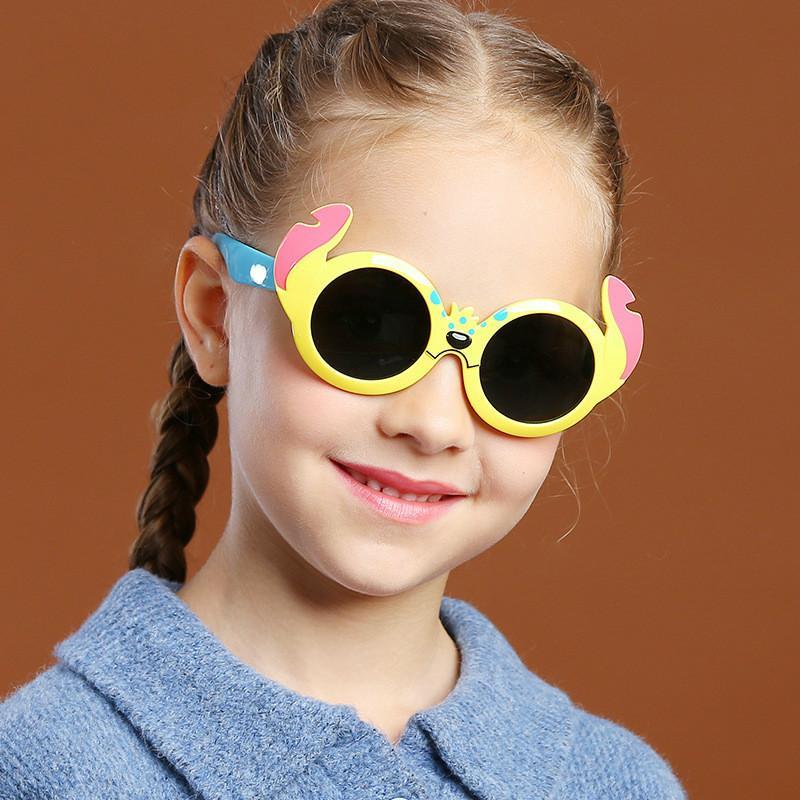 2020 New Style enfants silicone mignons de bande dessinée de style Girls And Boys Lunettes de soleil mode Enfants polarisants Lunettes de soleil UV400