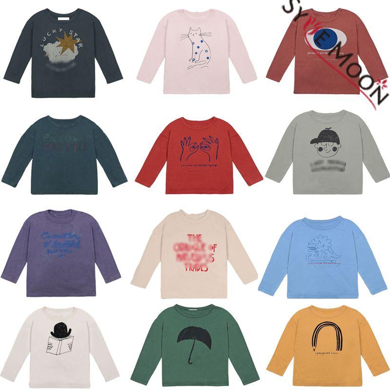 Kinder-T-Shirts 2020 neue Herbst-Winter-Jungen-Mädchen-Karikatur-Druck Langarmshirts T Shirts Baby-Kind-Baumwolle Mode Kleidung Tees 1006