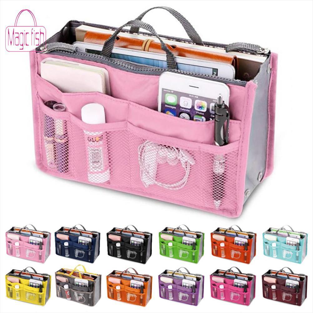 Bolsa de Cosméticos magia multifunción bolsa de cosméticos de maquillaje Mujeres Holder bolsa de aseo Necessaire caja de cosméticos del organizador del almacenaje de viajes