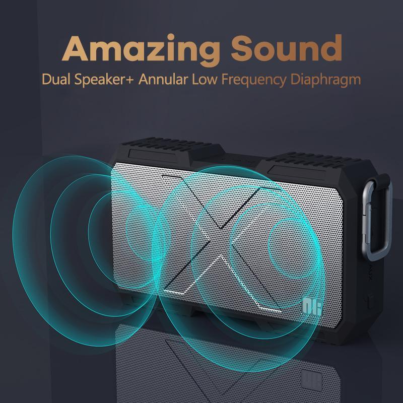 Caja inalámbrica Bluetooth altavoz subwoofer nillkin al aire libre altavoz portable impermeable ordenador personal puede cargar el teléfono