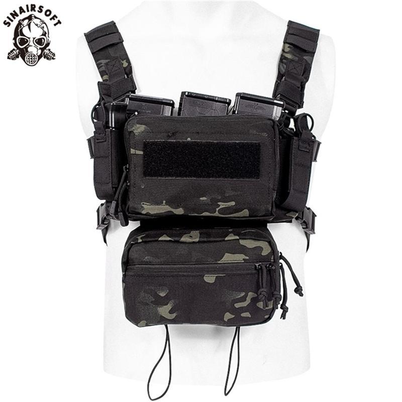 Askeri Airsoft Taktik Yelekler Ordu Yelek Savaş Saldırı Plaka Taşıyıcı Göğüs Teçhizatı Çanta CS Açık Giyim Avcılık Yelek Multicam 201214