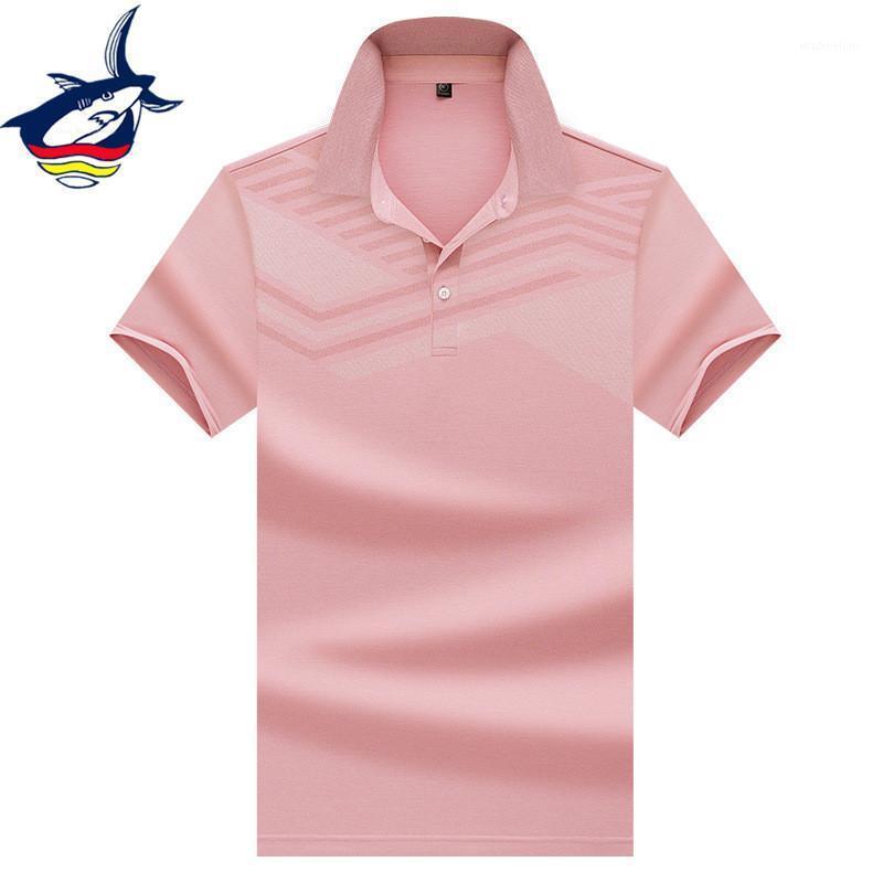 Polos de hombres Camisas de color puro para hombres diseño geométrico de diseño sólido transpirable camisa de verano Casual Business Men's Clothing1