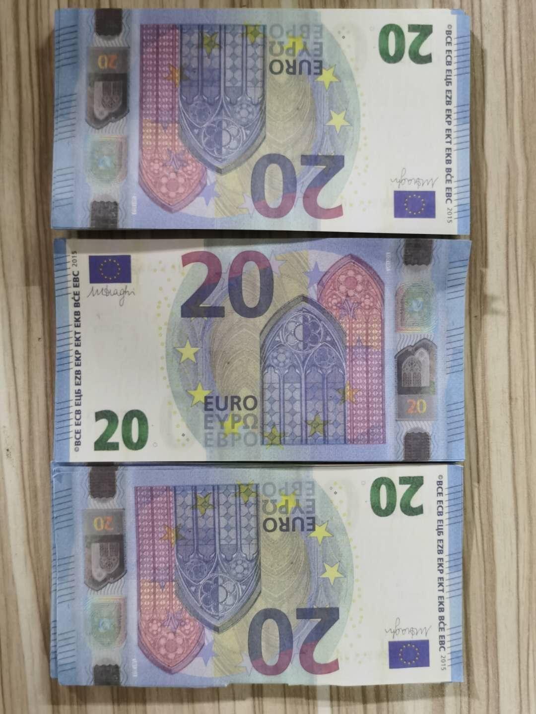 Prop Бумажные деньги 20 евро счетов Цены банкнота Бизнес подарки для мужчин