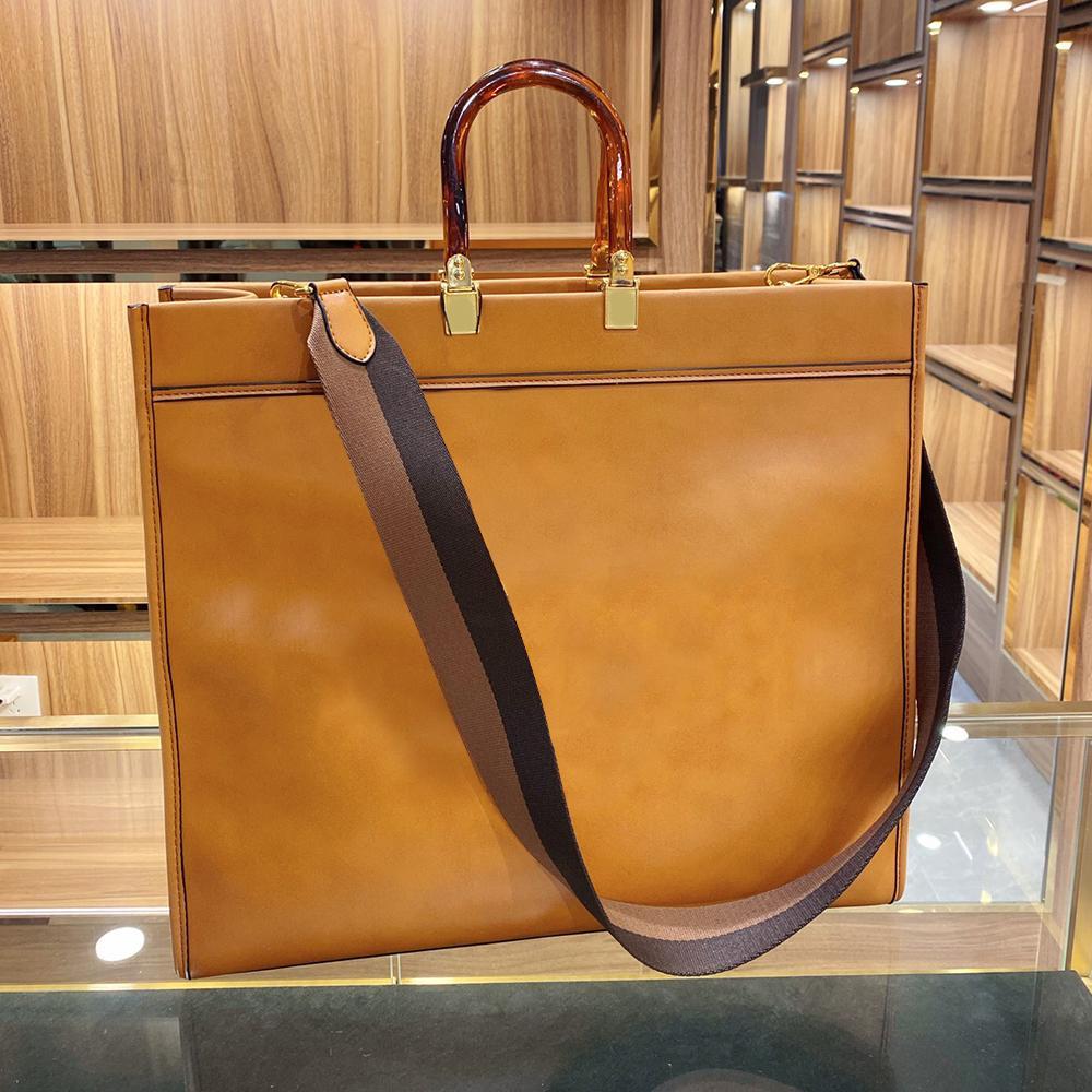 Коричневая новая сумка, покупки Tote Солнечный свет Высокие сумки Messenger Fashion Countes 2020 Кожаная сумка Женщины VDDPA