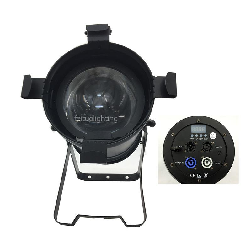 Manuelle Zoom-COB-LED-Par-Licht 100W WW oder CW-Par-Zoom-Lichtstrahl-Spot-Waschen 3in1 LED Par 64 DMX Bühnenlicht