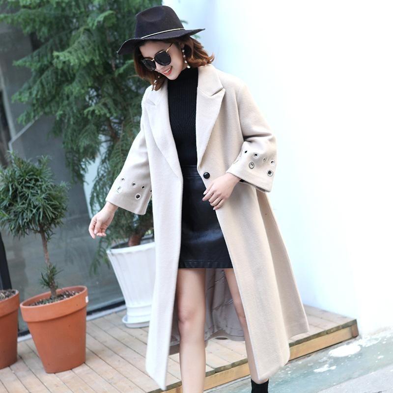 Nicesense casaco cappotto donne inverno abrigos mujer sobretudo poncho Feminino inverno manteau femme cappotto femminile misto lana