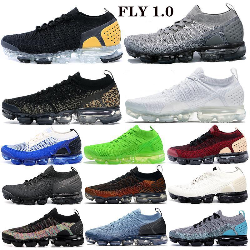 Fly 1.0 2.0 triple black Running Shoes Men Women jacket pack team red Trainers Cushion white pure platinum Sports Sneakers