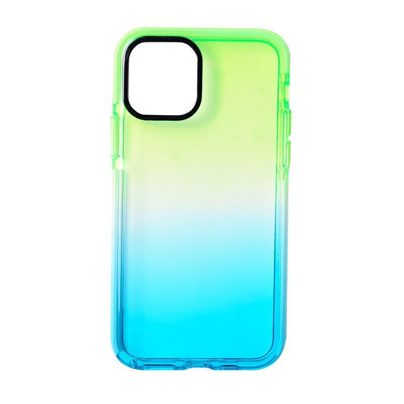 Радужный градиент цвета прозрачных случаев для iPhone 11 12 Pro XS MAX XR XR X 8 7 PLUS SE2020 Удароженная защитная крышка