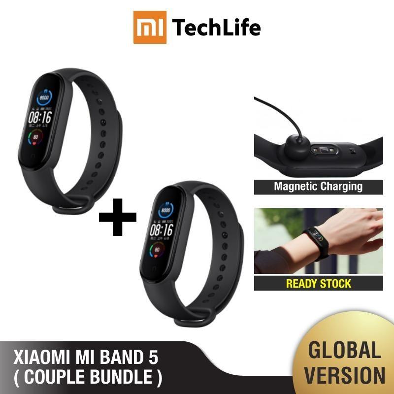 Mundial Mi Banda Versão 5 Casal Bundle (Brand New e selada) miband5, smartwatch, relógio inteligente, casal