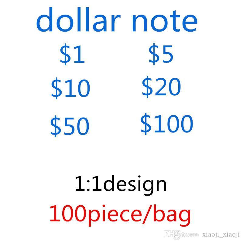 Collections comptant la banque HOT Sales Dollar Professes Films Dollars Dollars Cadeaux-G2 argent Papier US Paper Fête Jeux Jouets Nouveau Note NLIHV