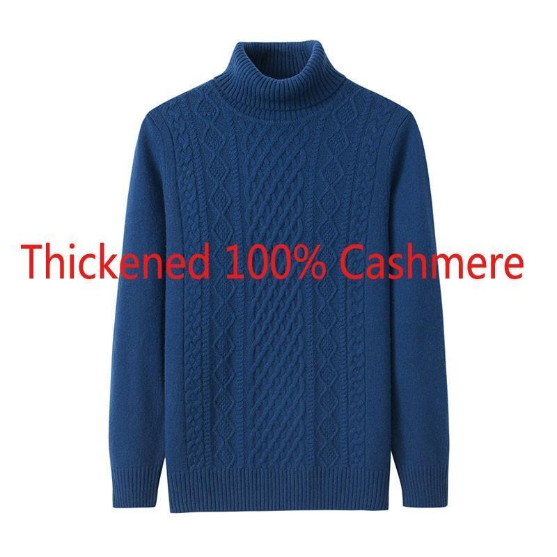 Nuovi uomini di marca invernale Linge Doppio pullover 100% cashmere caldo grande tartaruga per computer Casual computer maglione a maglia Plus Size M-4XL