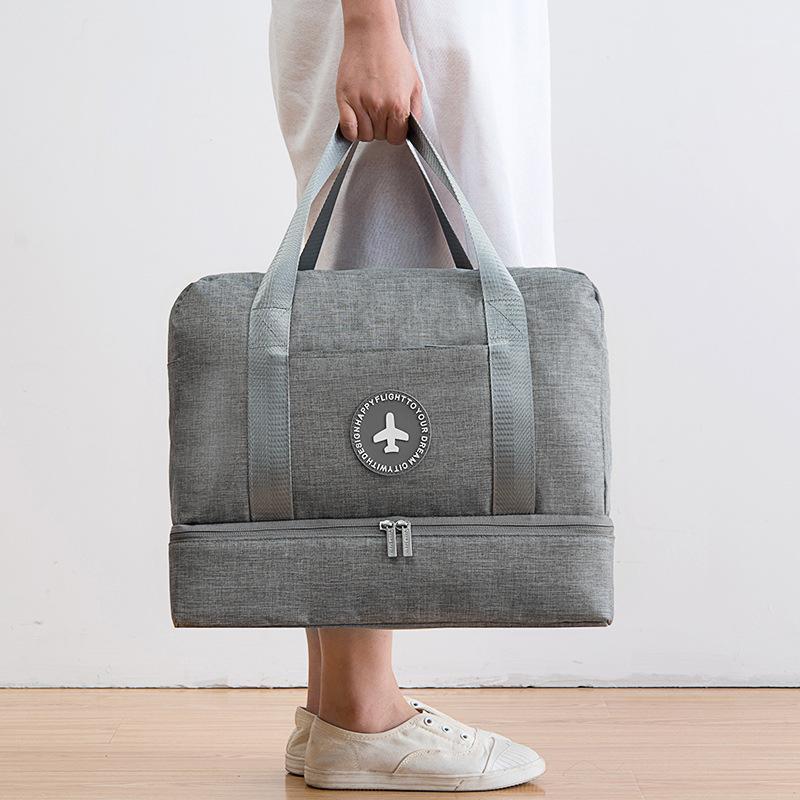 Путешествующая сумка Водонепроницаемая большая емкость Многофункциональный сухой мокрые разделительное хранение сумка сумка Draffle Men1