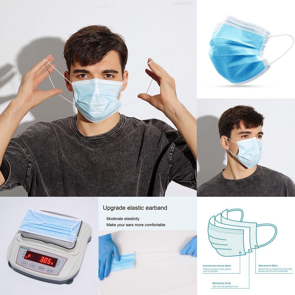 Koruyucu Freee Gemi OMC Anti Tozu Earloop Ağız Yüz Maskeleri Sivil Tek Kullanımlık Dokumasız Facemasks Withz