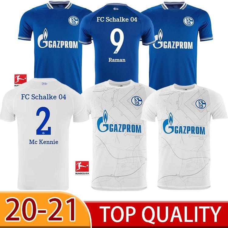 20 21 NUEVO Schalke Soccer Jerseys Kutucu Serdar 2020 2021 FC Schalke 04 Harit Raman Football Shirt Ozan Harit Maillot de Foot
