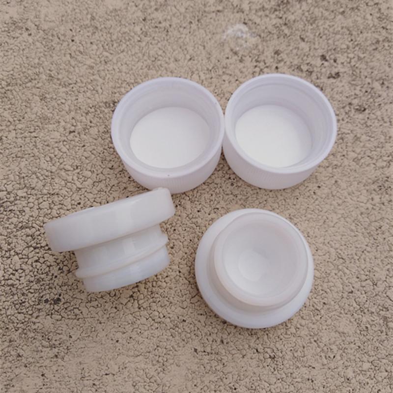 Pequeño frasco de cristal blanco de 5 g de cuello recto largo de cera de cera de embalaje Cosmetic Cream Container Hot Barato artículos
