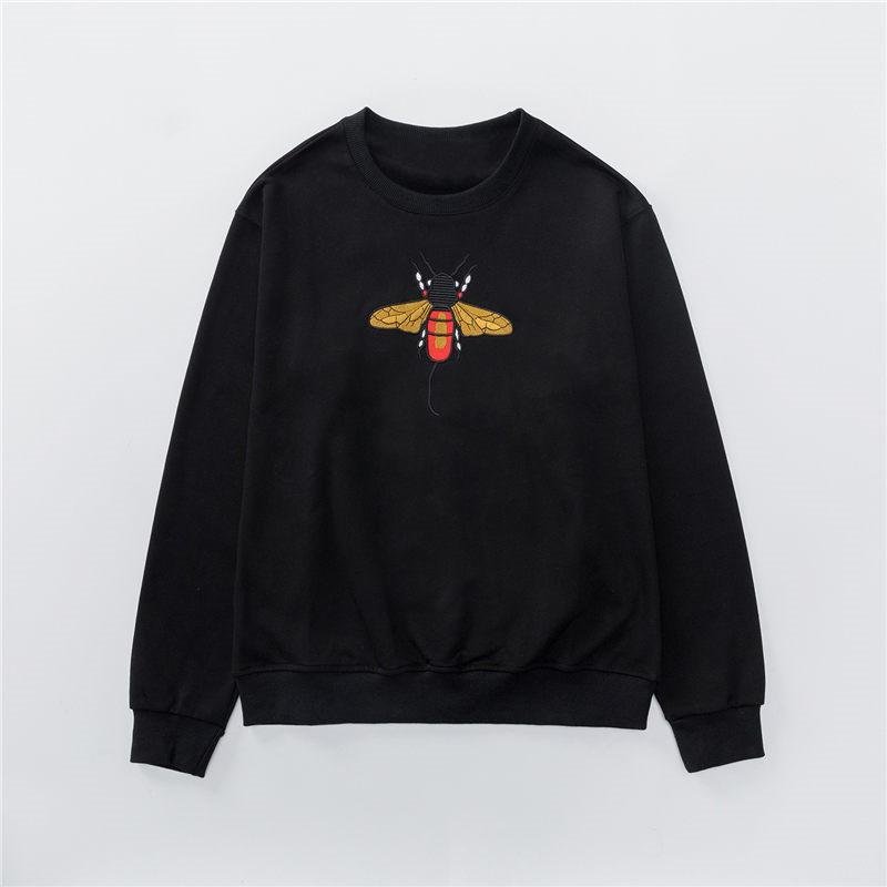 Men Stylish Slim Vintage High Quality Sweatshirts Mens Womens Autumn Winter Bee Embroidery Sweatshirt Coat Women Cotton Terry Sweat Shirts
