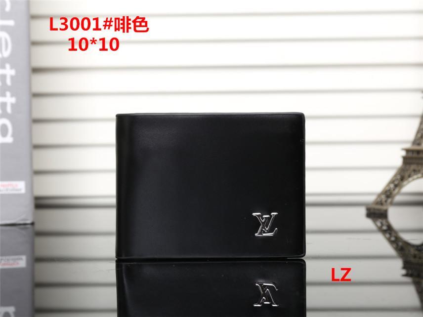 A3S6 Hot Sale Mens Wallet gedruckte Brieftasche Portemonnaie Handgelenkgeldbeutel Handgeldbeutel Leder-Kurzschluss Bifold Wallet