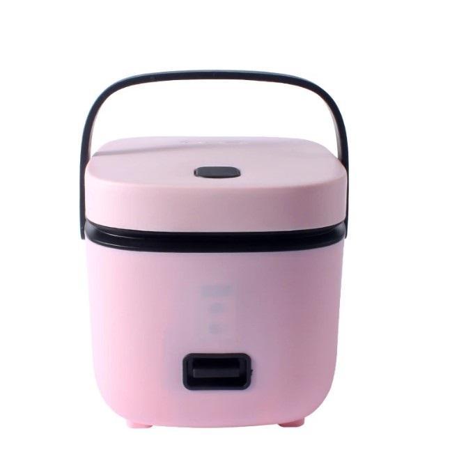 1.2L 미니 전기 밥솥 2 레이어 난방 식품 증기선 다기능 식사 요리 냄비 요리 1-2 사람들 도시락 상자