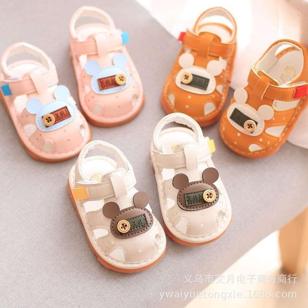 Babys Sandalen Sommer Old Girls '0-1-2 Jahre Weiche Jungensohlen Nichtrutsche Gehen werden als Sho genannt