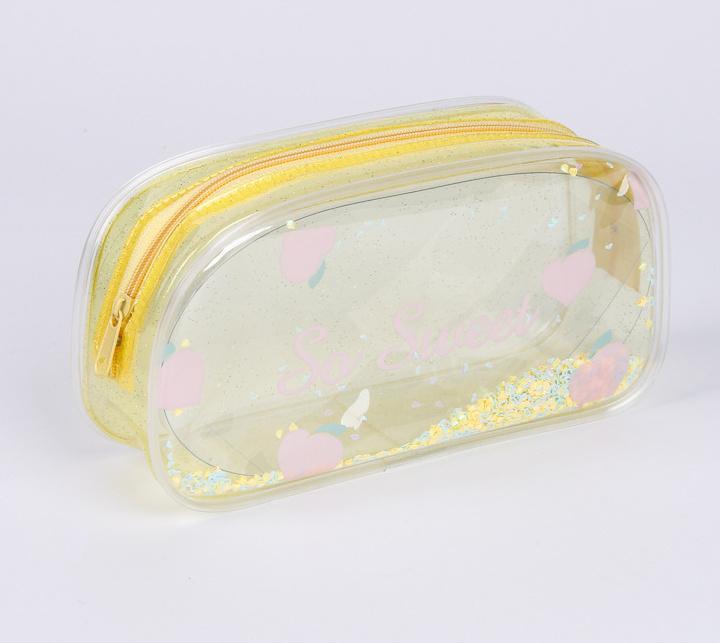 Caixa de embalagem transparente de cosméticos de HBPPVC PVC personalizada caixa de embalagem de cosméticos EVA fora do saco cosmético portátil