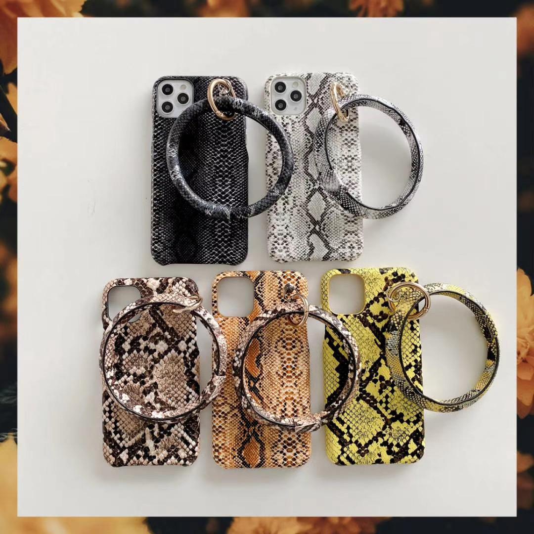 Estilo de la serpiente IPhone Cases para IPhone12 Pro Max mini teléfono apta del caso para Iphone 11Pro Max 11Pro XR XSMAX con asimiento de la mano del anillo mayorista
