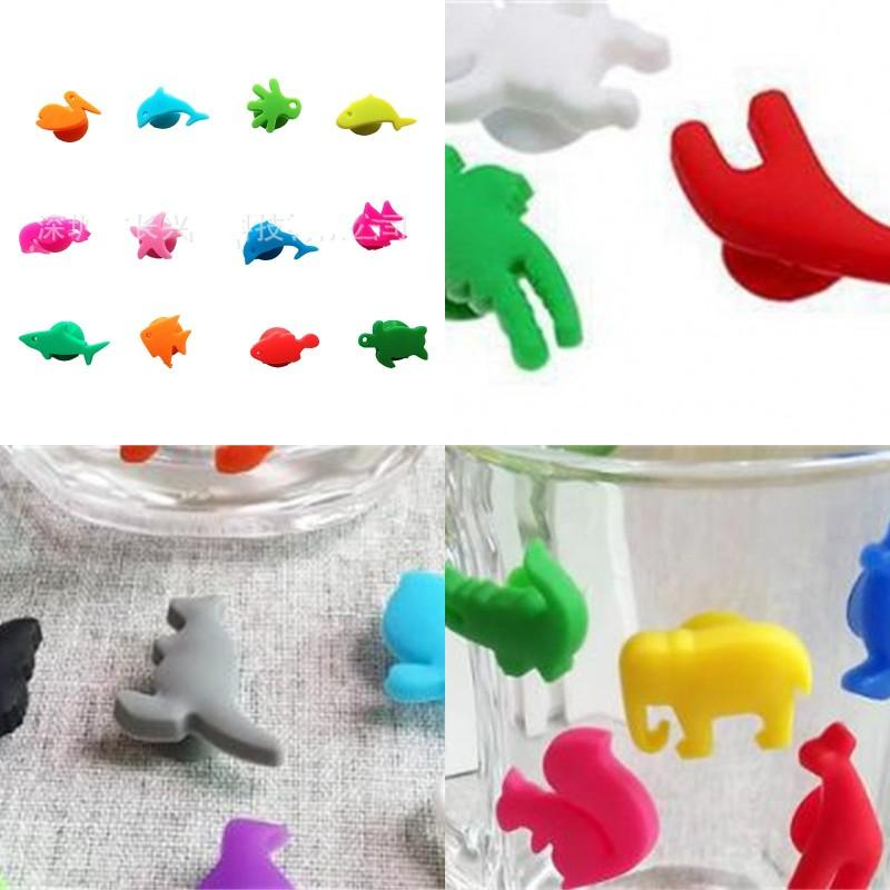 Wine Glass Identifier Silica Gel Animal Creative Discriminator Party Articles Many Colour Recognizer Factory Direct Selling 6cx p1