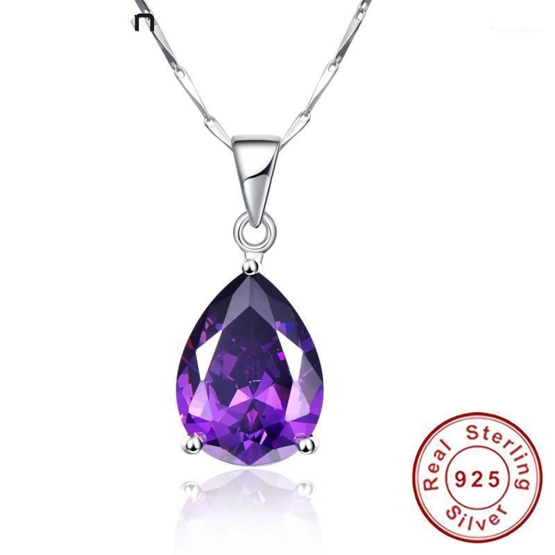 925 Sterling Silver Bijoux Collier Pearl Coupée Authyst Authyste Pendentif Collier pour vêtements pour femmes Accessoires1