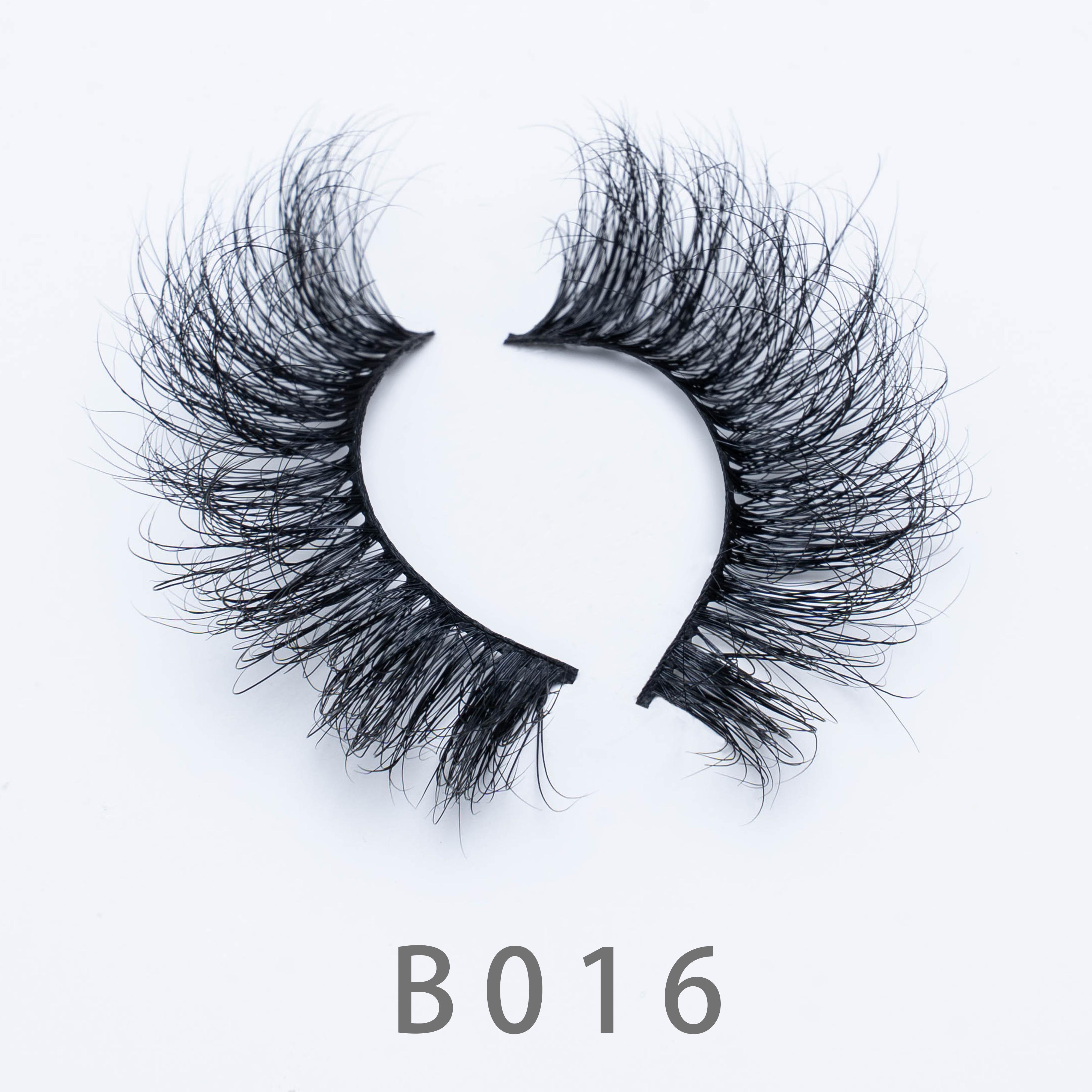 [Mink falsche Wimpern-B16] 3D Mink Wimpern Augen Makeup Mink Gefälschte Wimpern weiche natürliche dicke Wimpern Wimpern mit schönen Kastenpaket