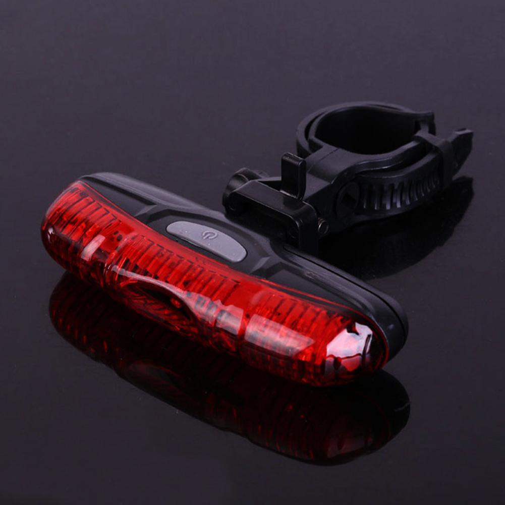 Switch do botão Led dinâmico Flashing Outdoor Noite de equitação de segurança a longo pilhas Instalação Fácil Luz Traseira de Plástico de bicicleta