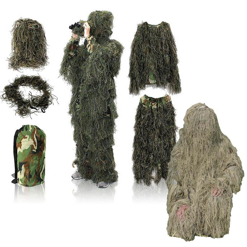 Outdoor Jungle Hunting Clothes Birding Suit Camo Sniper Uniform Tactical Camouflage Clothing Ghillie Suit NO05-300