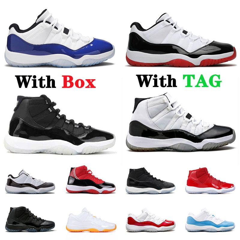2021 with box new arrival 25th 11 jumpman basketball shoes 11s Concord High Low Bred Gamma Blue Space Jam Cap and Gown Sneakers