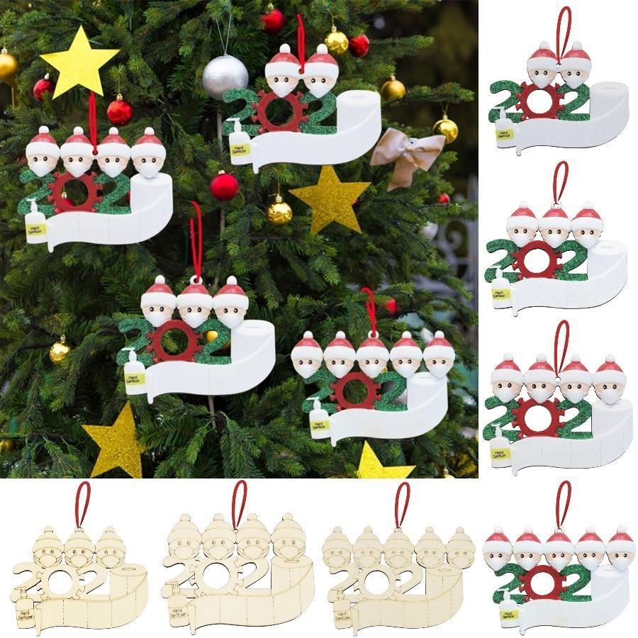 8 Stiller Ahşap Noel Dekorasyon DIY Adı Blessing Noel ağacı Süsleme Kişiselleştirilmiş Aile 2 3 4 5 Süsleme Deniz Kargo DDA604 Of