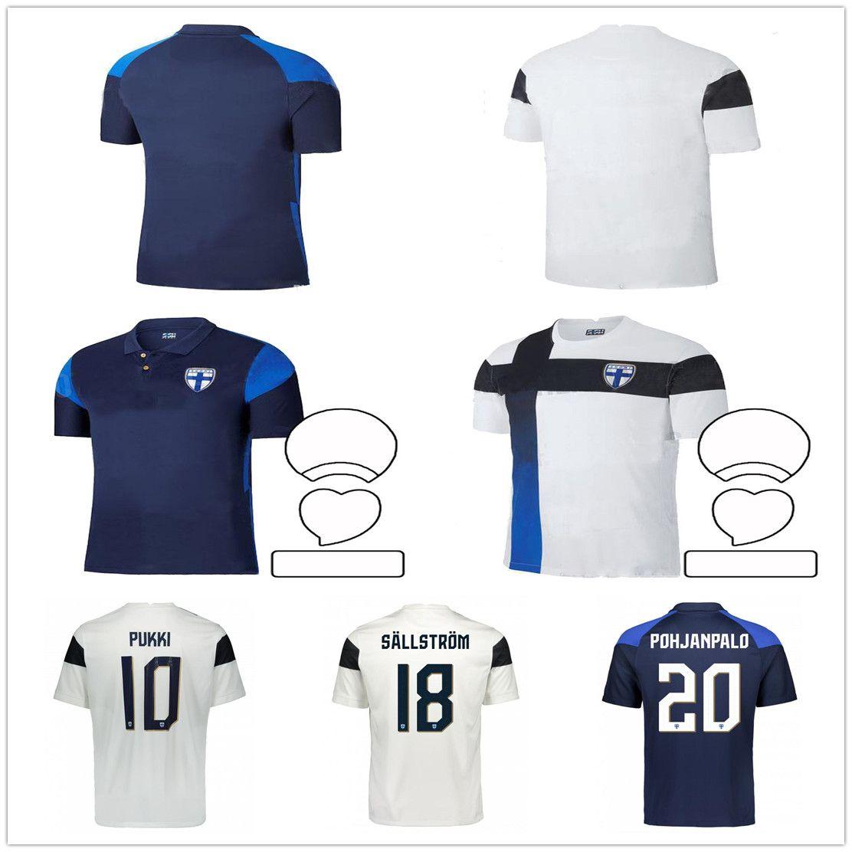 2021 2022 New Finland National Team Soccer Jersey PUKKI SKRABB RAITALA JENSEN LOD Custom Adult Home Away Football Shirt Uniform