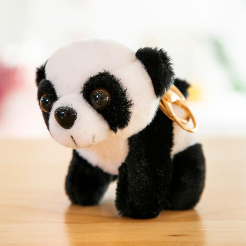 جديد الكرتون أفخم لطيف الباندا النمر المفاتيح للهدايا حقائب الحلي كيرينغ الرجال النساء سحر حقيبة قلادة هدية عيد