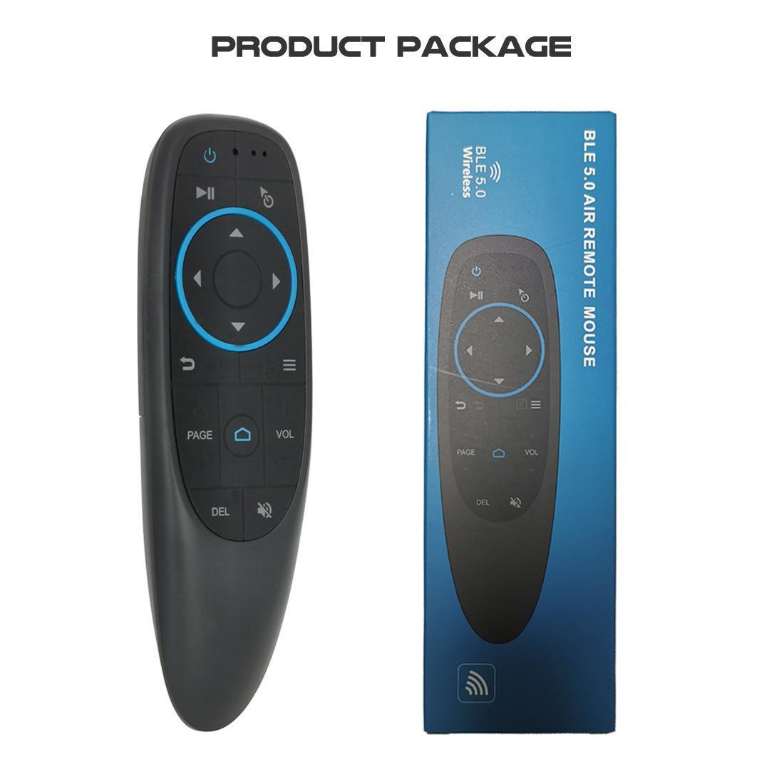 G10BTS 무선 블루투스 에어 마우스 6 축 자이로 스코프 (17) 키 스마트 원격 안드로이드 TV 박스 x96 공기에 대한 x88 프로 등