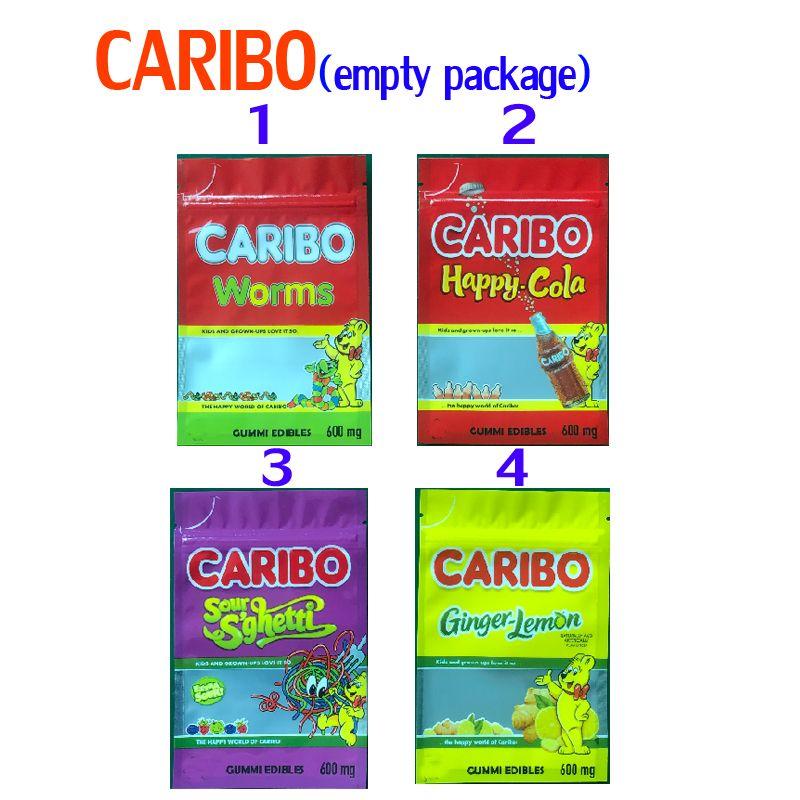 600 mg vacío infundido caribo haribo gusanos feliz cola faro sghetti jengibre gummy edibles envases mylar bolsas