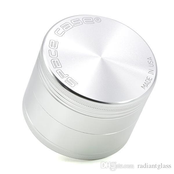 63mm 4 pc moedor cnc moedores de alumínio com logotipo tabaco fumo Detector de cigarro de moagem de fumo de fumo do tabaco vs sharpstone moedor spic