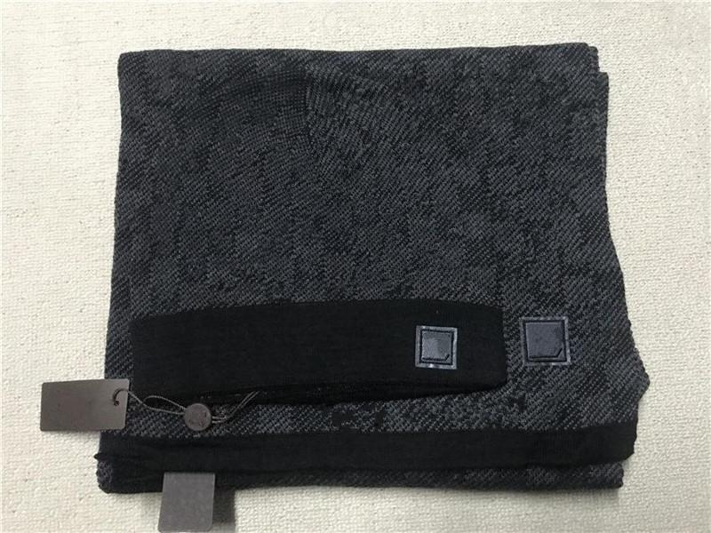 202x Высококачественная шляпная шарф набор для мужчин и женщин зимняя шерсть шарф дизайн шали шляпа шерсть шанна обертка шарф