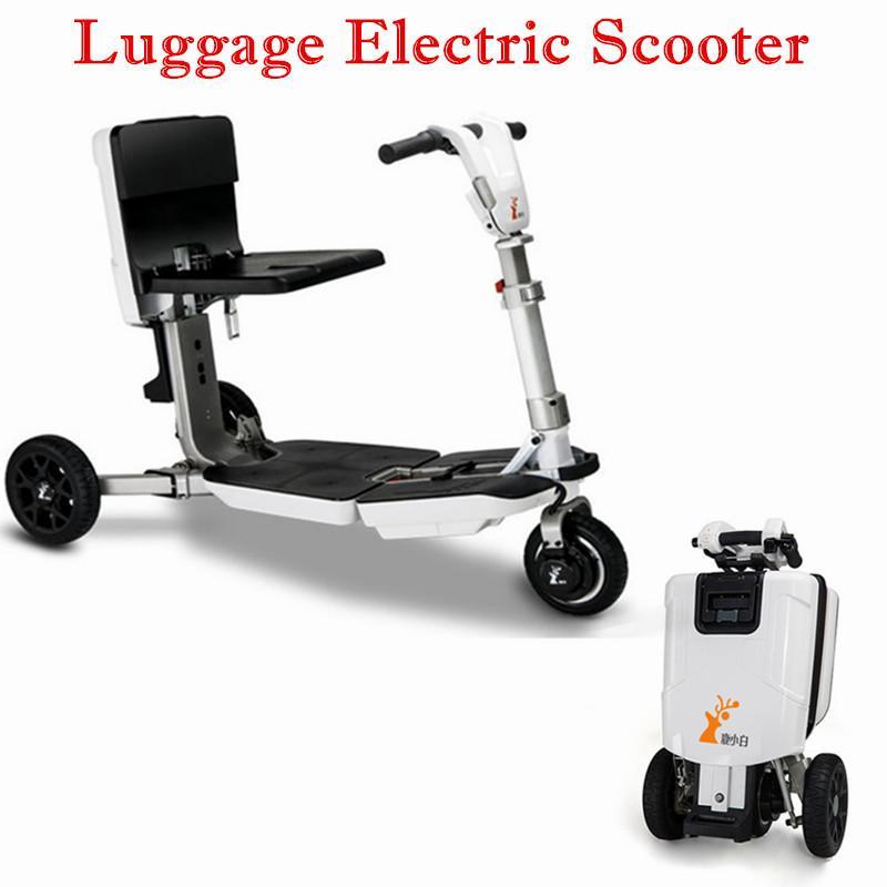 24-Zoll-Gepäck-Roller für Behinderte für Behinderte drei Räder Elektroroller 48V 350W Rollstuhl Faltbarer elektrischer Roller