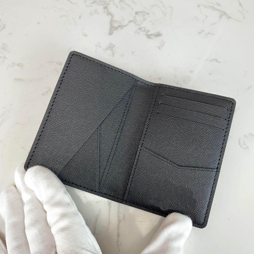 Boîte en cuir classique avec Portefeuille PureSe de luxe CICRQ Meilleur portefeuille de portefeuille Carte Qualité Véritable Véritable Mens Ho Womens Passeport PMWB