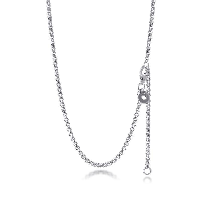 Collier à chaîne Rolo Véritable 925 Sterling Silver Bijoux pour femme DIY Faire fête cadeau de mariage Collier en gros